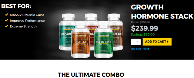 Crazybulk Muscle Growth Hormone Stack