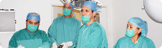 Weight loss surgical procedure team