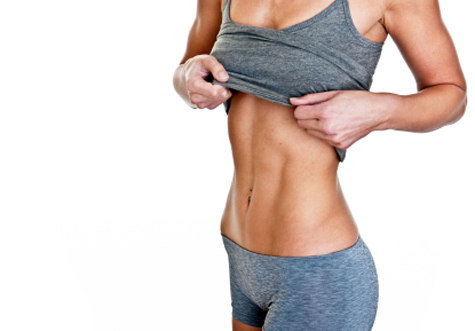 Lose weight on stomach get flat abs